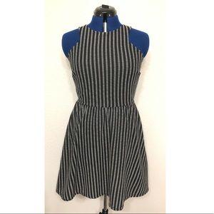 Francesca's Sleeveless Dress - Blue Stripes